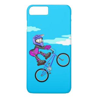 Funda Para iPhone 8 Plus/7 Plus BMX niño parado en el asiento de su bicicleta