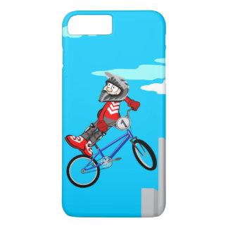 Funda Para iPhone 8 Plus/7 Plus BMX  niño se vuelca a un lado de su bicicleta