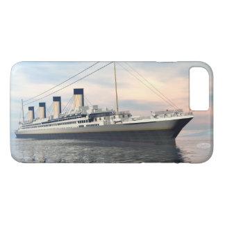 Funda Para iPhone 8 Plus/7 Plus boat_titanic_close_water_waves_sunset_pink_standar