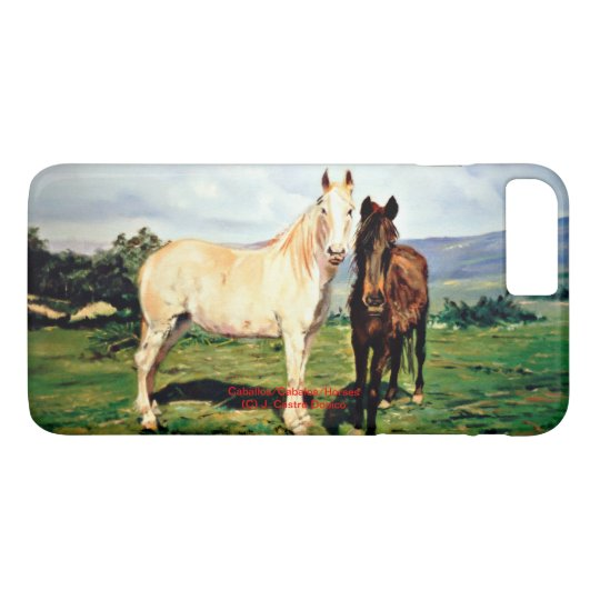 Funda Para iPhone 8 Plus/7 Plus Caballos/Cabalos/Horses