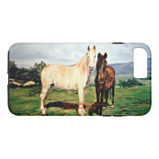 Funda Para iPhone 8 Plus/7 Plus Caballos/Cabalos/Horses