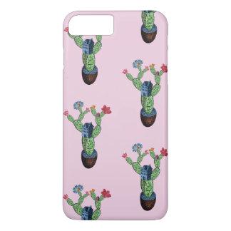 Funda Para iPhone 8 Plus/7 Plus Cactus espinoso con las flores