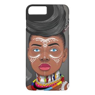 Funda Para iPhone 8 Plus/7 Plus Caja africana del teléfono de la reina