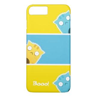 Funda Para iPhone 8 Plus/7 Plus Caja azul de Smartphone del gato del jengibre