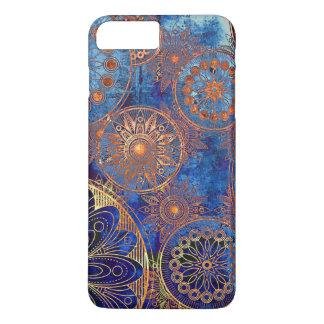 Funda Para iPhone 8 Plus/7 Plus Caja azul retra del teléfono del compás