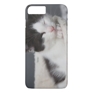 FUNDA PARA iPhone 8 PLUS/7 PLUS CAJA BLANCO Y NEGRO DEL GATITO IPHONE