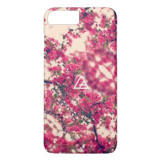 Funda Para iPhone 8 Plus/7 Plus Caja de cristal del teléfono de la floración de la