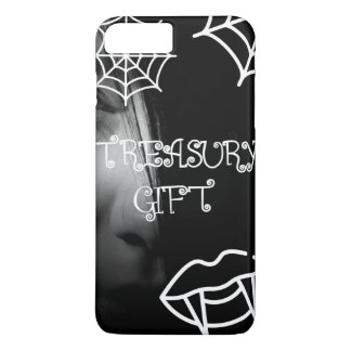 Funda Para iPhone 8 Plus/7 Plus caja negra #003 del iphone de Halloween del diseño