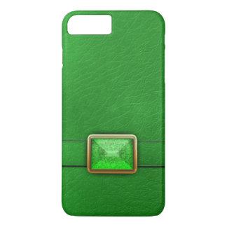 Funda Para iPhone 8 Plus/7 Plus Caja verde del teléfono de la imitación de cuero y