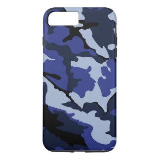 Funda Para iPhone 8 Plus/7 Plus Camo azul, caso más del iPhone 7 duros