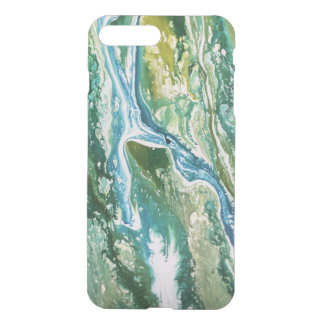 Funda Para iPhone 8 Plus/7 Plus Cascada azulverde abstracta colorida de la