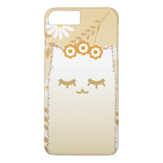 Funda Para iPhone 8 Plus/7 Plus Caso del gato de la flor