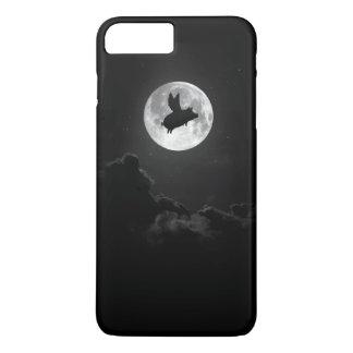 Funda Para iPhone 8 Plus/7 Plus caso del iphone de la luna del cerdo del vuelo