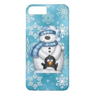 Funda Para iPhone 8 Plus/7 Plus Caso más del iPhone 7 del muñeco de nieve del