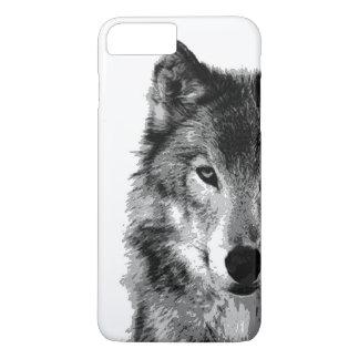 Funda Para iPhone 8 Plus/7 Plus Caso más del iPhone 7 del negro y de White Wolf