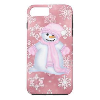 Funda Para iPhone 8 Plus/7 Plus Caso más del iPhone 7 del rosa del muñeco de nieve