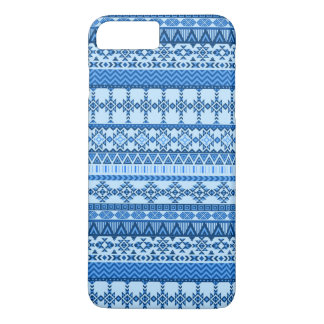 Funda Para iPhone 8 Plus/7 Plus Caso más del iPhone 7 tribales azules aztecas de
