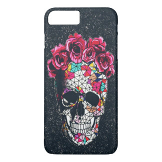 Funda Para iPhone 8 Plus/7 Plus Caso sonriente del iPhone 7 del cráneo del