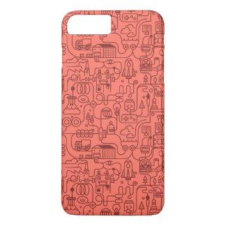 Funda Para iPhone 8 Plus/7 Plus ¡Ciencia!! Caja científica roja del modelo