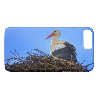 Funda Para iPhone 8 Plus/7 Plus Cigüeña blanca europea, ciconia, en la jerarquía