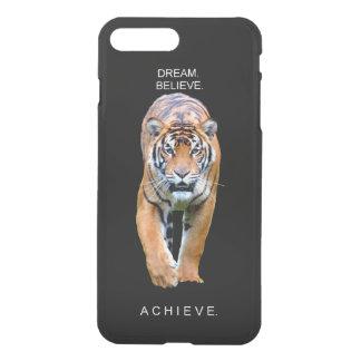 Funda Para iPhone 8 Plus/7 Plus cita de motivación del logro del tigre