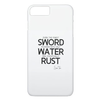Funda Para iPhone 8 Plus/7 Plus CITAS: Sun Tzu: La espada más fina, agua salada