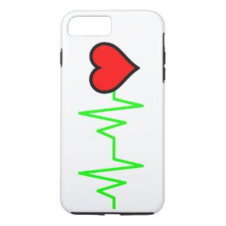 Funda Para iPhone 8 Plus/7 Plus Corazón del cardiograma de EKG