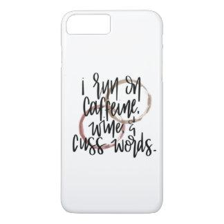 Funda Para iPhone 8 Plus/7 Plus Corro en el cafeína, vino y cuss las palabras