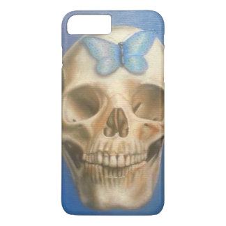 Funda Para iPhone 8 Plus/7 Plus Cráneo de la bella arte que pinta la caja púrpura
