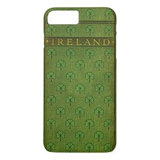 Funda Para iPhone 8 Plus/7 Plus Cubierta de libro viejo del trébol de Irlanda