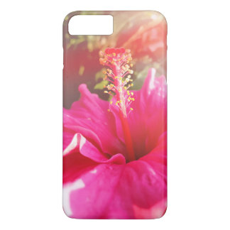 Funda Para iPhone 8 Plus/7 Plus Cubierta rosada del hibisco iPhone8