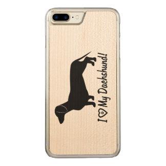 Funda Para iPhone 8 Plus/7 Plus De Carved Amo mi Dachshund con la impresión de la pata