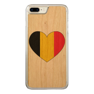 Funda Para iPhone 8 Plus/7 Plus De Carved Bandera de Bélgica simple