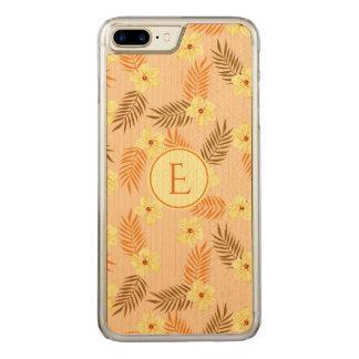 Funda Para iPhone 8 Plus/7 Plus De Carved Beautiful yellow and orange floral design.