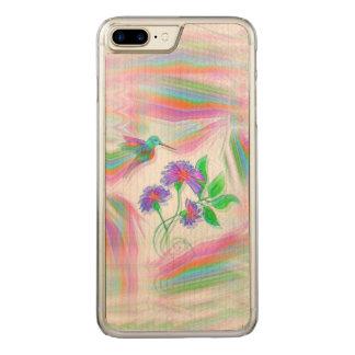 Funda Para iPhone 8 Plus/7 Plus De Carved Caleidoscopio del vuelo del colibrí