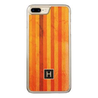 Funda Para iPhone 8 Plus/7 Plus De Carved Caliente el monograma resistido de las rayas del
