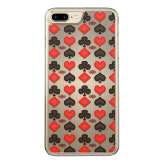 Funda Para iPhone 8 Plus/7 Plus De Carved Caso de Iphone del modelo del juego de póker de