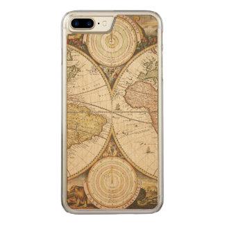 Funda Para iPhone 8 Plus/7 Plus De Carved Caso del iPhone del mapa del vintage