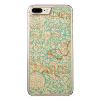 Funda Para iPhone 8 Plus/7 Plus De Carved Diseño del oro de París del vintage con la