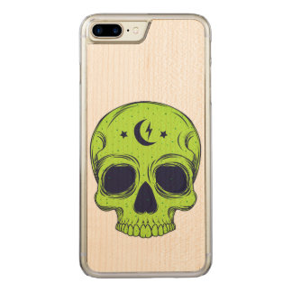 Funda Para iPhone 8 Plus/7 Plus De Carved Ejemplo artístico del cráneo