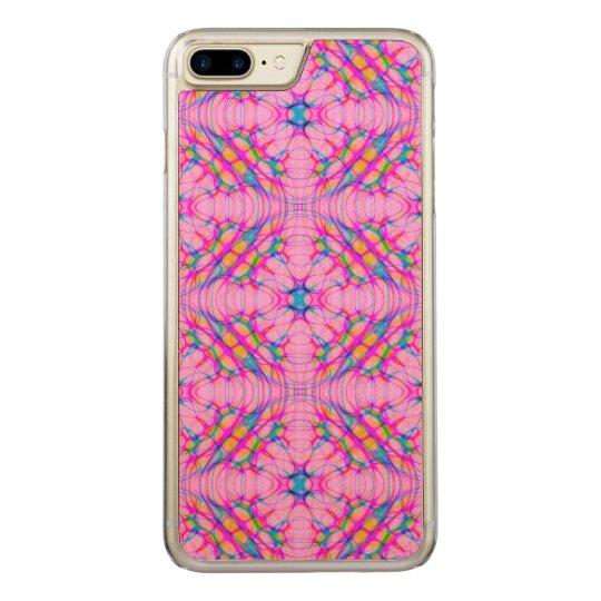 Funda Para iPhone 8 Plus/7 Plus De Carved Extracto del modelo del caleidoscopio del rosa en