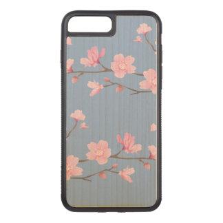 Funda Para iPhone 8 Plus/7 Plus De Carved Flor de cerezo - azul de la serenidad