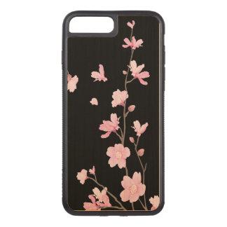 Funda Para iPhone 8 Plus/7 Plus De Carved Flor de cerezo - negro