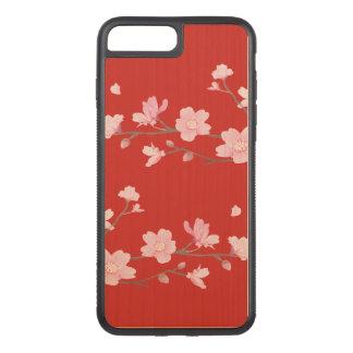Funda Para iPhone 8 Plus/7 Plus De Carved Flor de cerezo - rojo