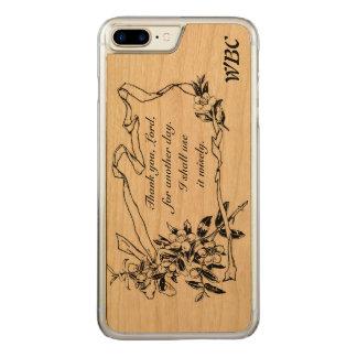 """Funda Para iPhone 8 Plus/7 Plus De Carved """"Gracias, señor, por diseño del recordatorio de"""