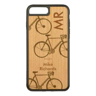 Funda Para iPhone 8 Plus/7 Plus De Carved iPhone personalizado 6 con las bicis en la madera