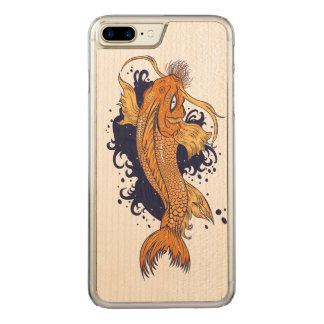 Funda Para iPhone 8 Plus/7 Plus De Carved Japonés colorido Koi