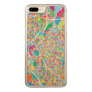Funda Para iPhone 8 Plus/7 Plus De Carved Mapa colorido de Denver