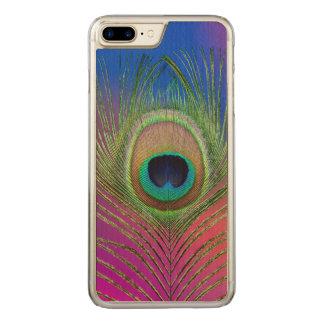 Funda Para iPhone 8 Plus/7 Plus De Carved Pluma de cola de un pavo real