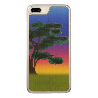 Funda Para iPhone 8 Plus/7 Plus De Carved Puesta del sol de la sabana por los Happy Juul